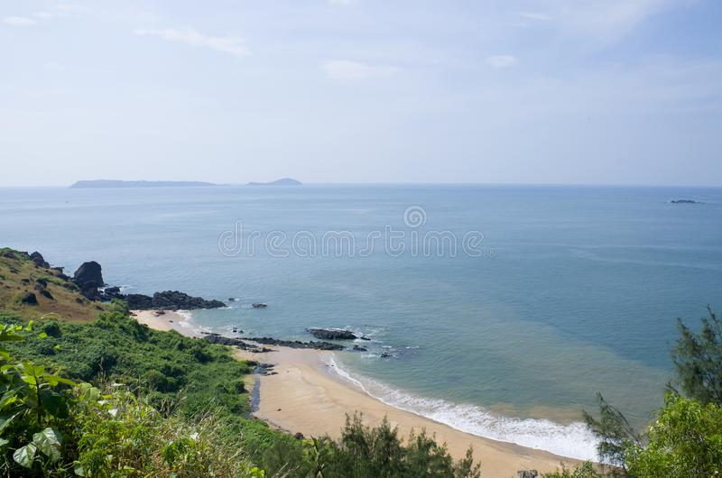 Landscape the tropical beach of Vasco De Gamma in India. Landscape tropical beach of Vasco De Gamma in India stock images