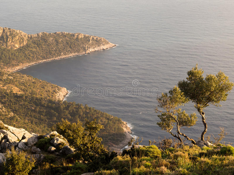 Landscape of Turkish coast. Of mediterranean sea royalty free stock image