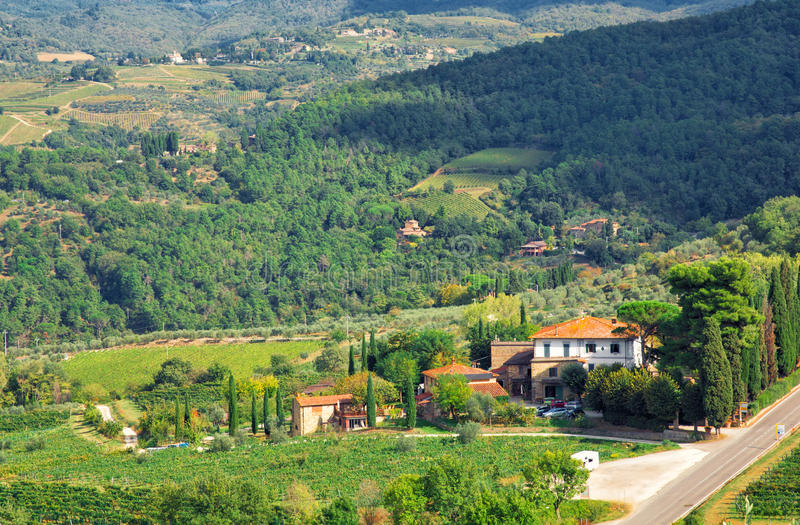 Landscape in Tuscany stock image