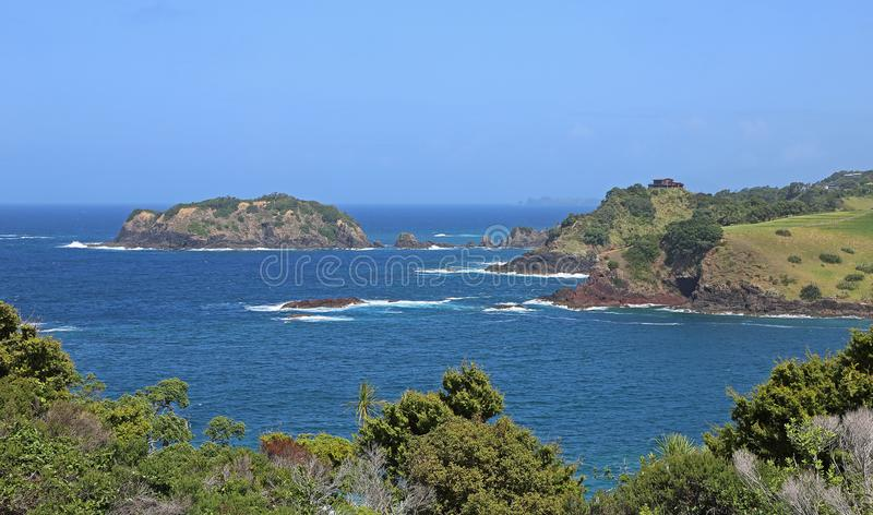 Tutukaka Head and Kukutauwhao Island royalty free stock image