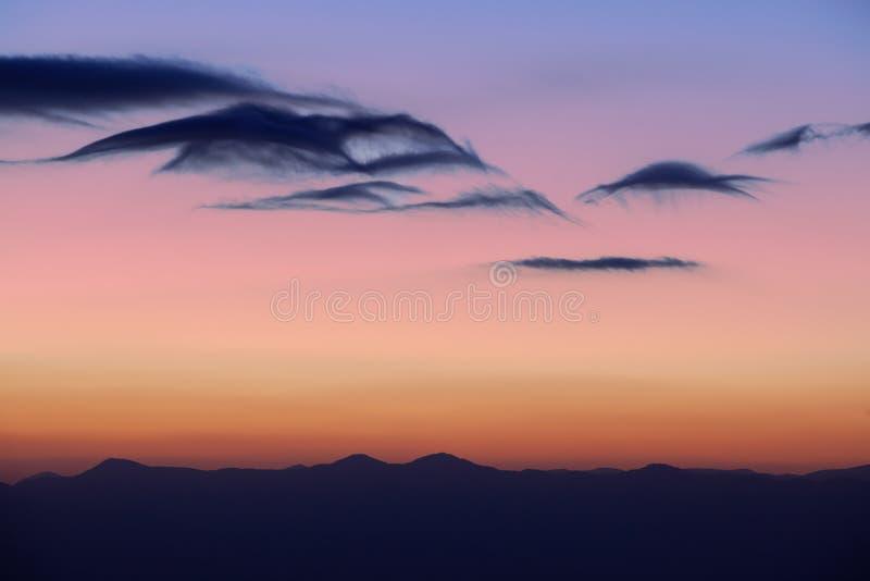 Twilight Great Smoky Mountains royalty free stock image