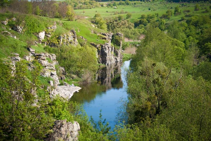 Landscape of ukrainian canyon stock photo