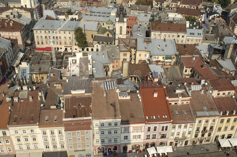 landscape urban Όψη της παλαιάς πόλης στοκ εικόνα