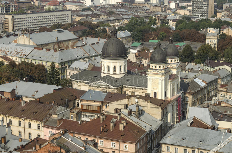 landscape urban Όψη της παλαιάς πόλης στοκ εικόνες