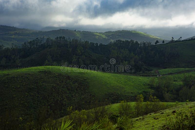 Landscape from Vagamon, also spelt Wagamon- Kerala South india stock images