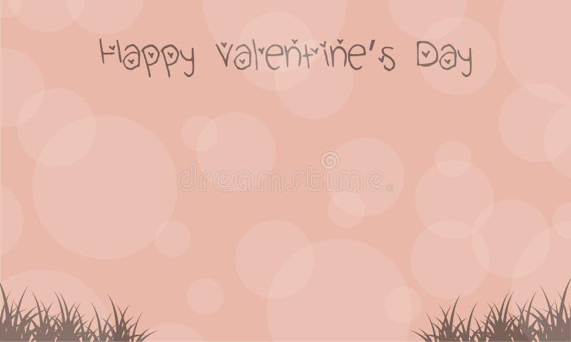 Landscape for valentine day backgrounds. Vector illustration royalty free illustration