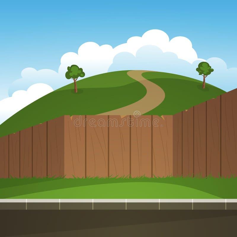 Landscape vector royalty free illustration