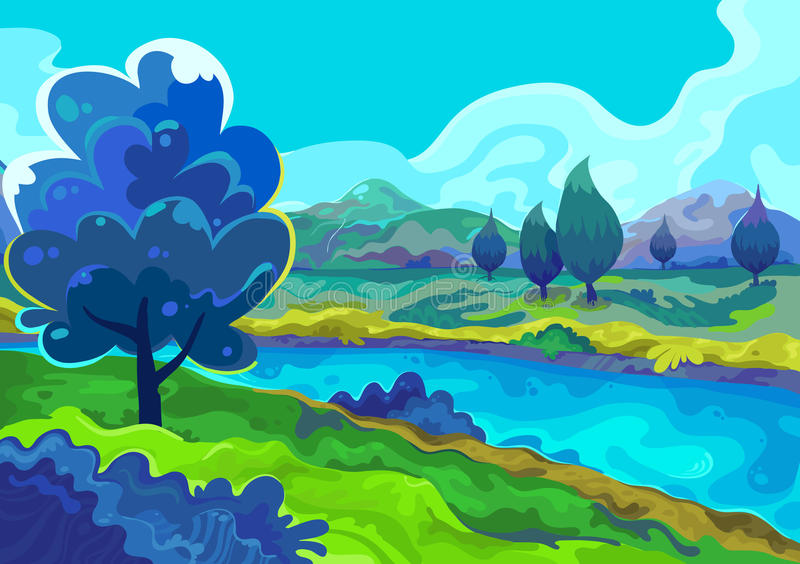 Landscape, Vector illustration royalty free stock images