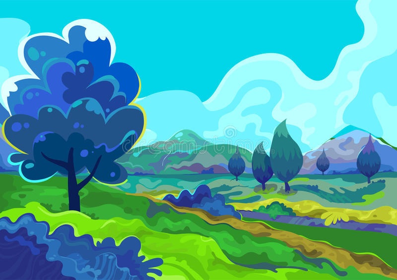 Landscape, Vector illustration stock image