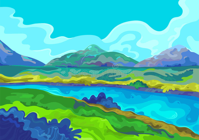 Landscape, Vector illustration royalty free stock photos
