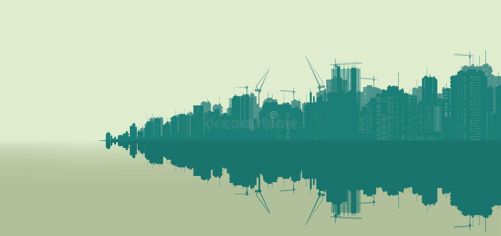 landscape of a very large city. vector illustration