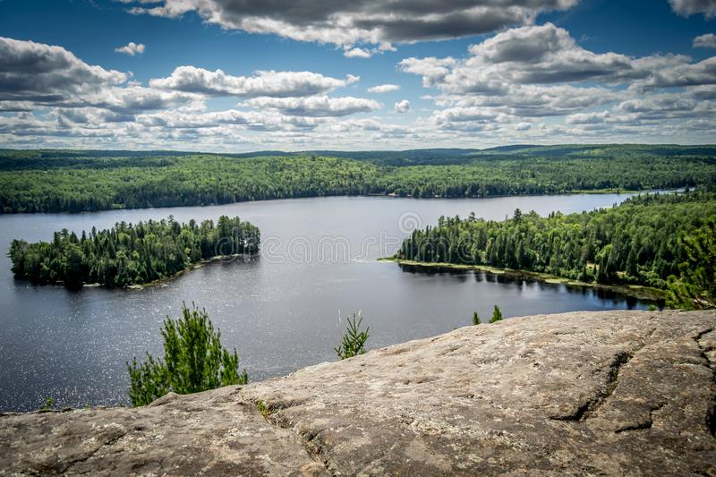 Landscape view of Algonquin Provincial Park. In Canadian Province of Ontario royalty free stock image