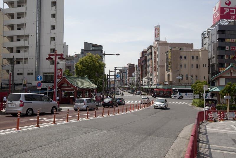 Landscape view of Asakusa royalty free stock photo