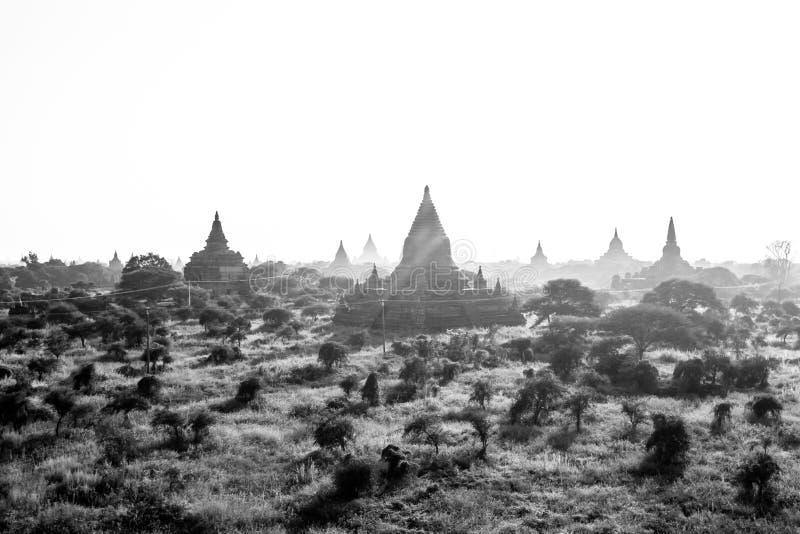 Landscape view of Bagan ruins, Myanmar royalty free stock photo