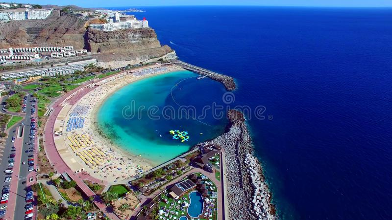 Landscape and view of beautiful Gran Canaria at Canary Islands, Spain royalty free stock photo