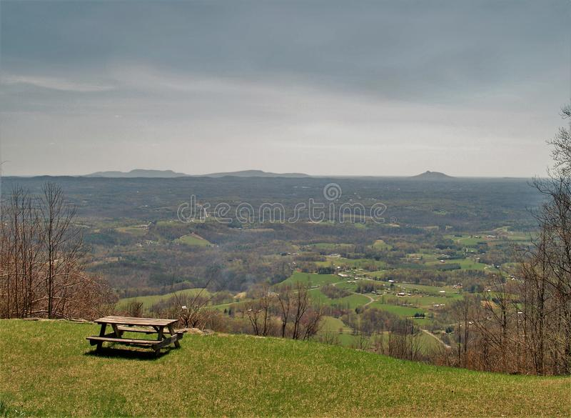 Landscape View from Blue Ridge Parkway stock image