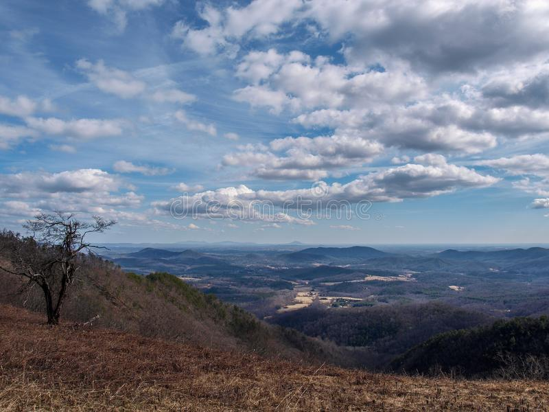 Landscape View from Blue Ridge Parkway royalty free stock photography