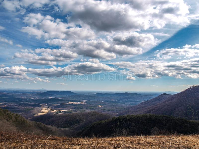 Landscape View from Blue Ridge Parkway royalty free stock image