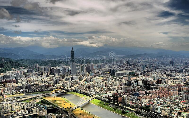 Landscape View of City Curing Day Time royalty free stock image