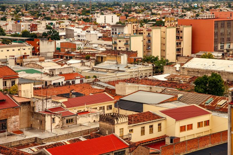 Landscape view of the city of Salta, Argentina. On a cloudy day royalty free stock photos