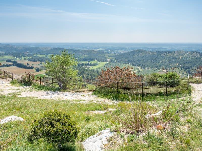 Landscape view from Chateau des Baux-de-provence royalty free stock images