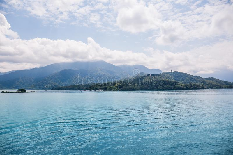 Sun moon lake. A landscape view of the famous Sun Moon Lake in Taiwan royalty free stock photography