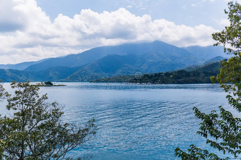 Sun moon lake. A landscape view of the famous Sun Moon Lake in Taiwan stock images