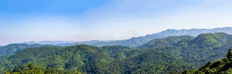 , Tad Mok Phetchaboon. Landscape view of green trees on rain forest mountain in Thailan, Tad Mok Phetchaboon royalty free stock photo