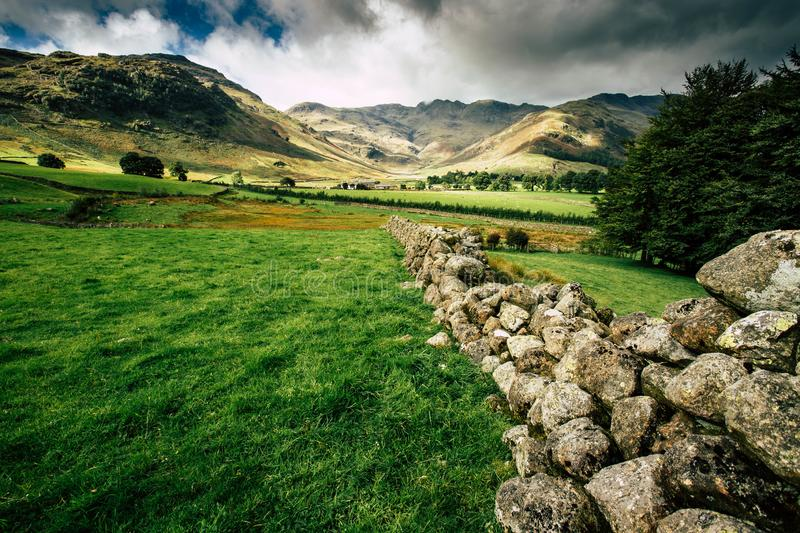 A landscape view of the Lake District royalty free stock images
