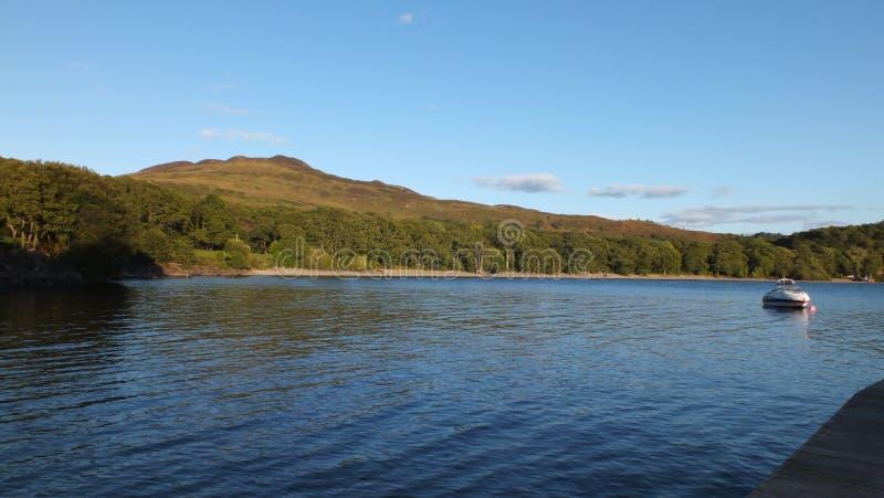 Landscape view of Loch Lomond stock photo