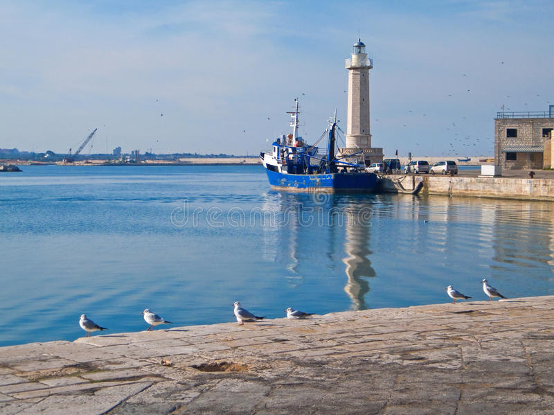 Download Landscape View Of Molfetta Touristic Port. Stock Photography - Image: 12900682