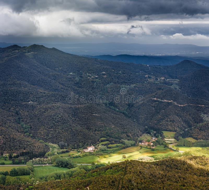 Landscape view from the Montseny Massif royalty free stock image