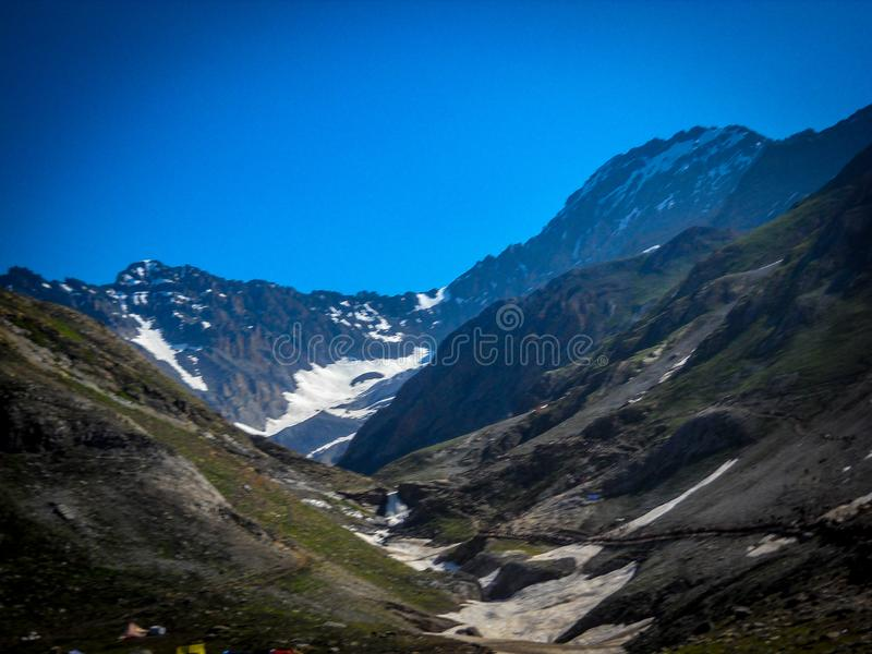 Landscape view of mountain in Kashmir India. View of mountains. Hill top view stock photos