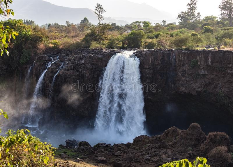 Landscape view near Blue Nile falls, Tis-Isat Falls in Amara region of Ethiopia. Landscape view near the Blue Nile falls, Tis-Isat Falls, meaning great smoke in stock images