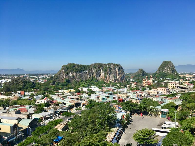Mountain view from Marble mountain, Danang, Vietnam stock image