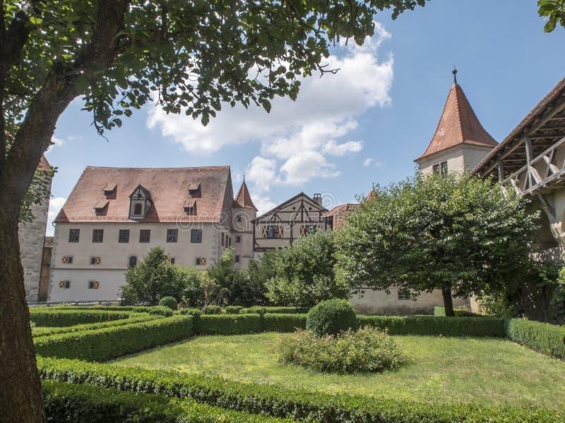 Landscape view of a portion of Harburg Castle. stock image