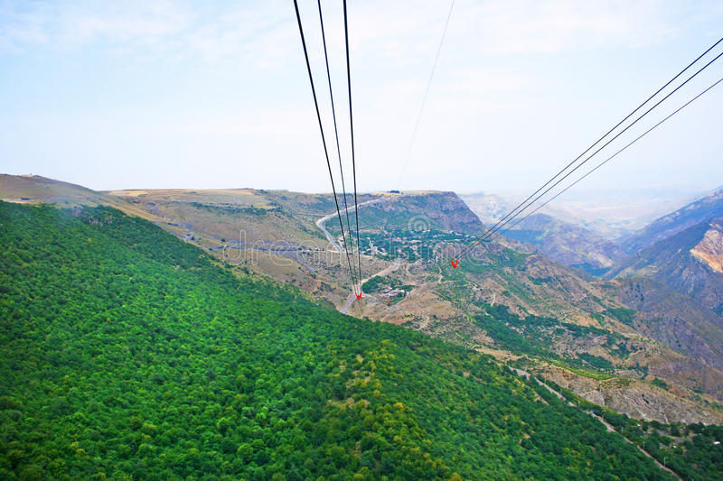 Landscape view from ropeway altitude royalty free stock image