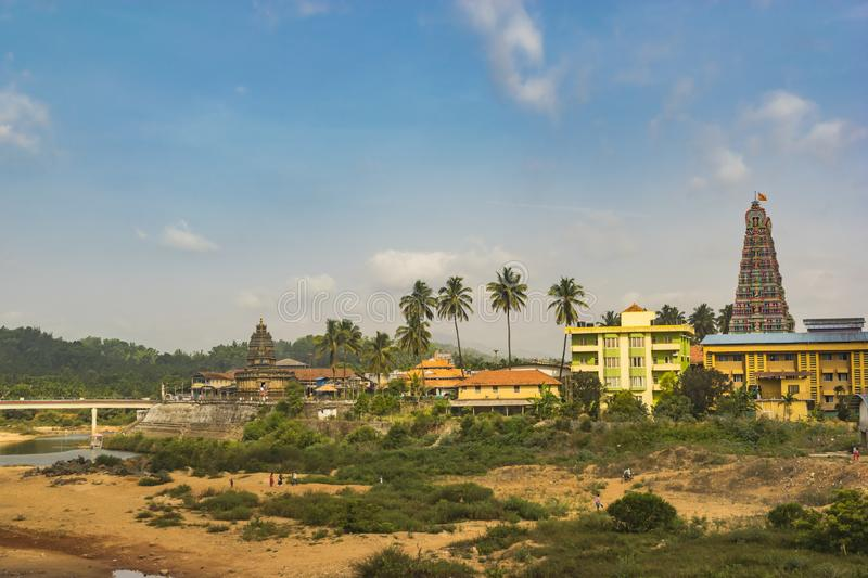 Town View - Landscape of  Sringeri Temple royalty free stock images