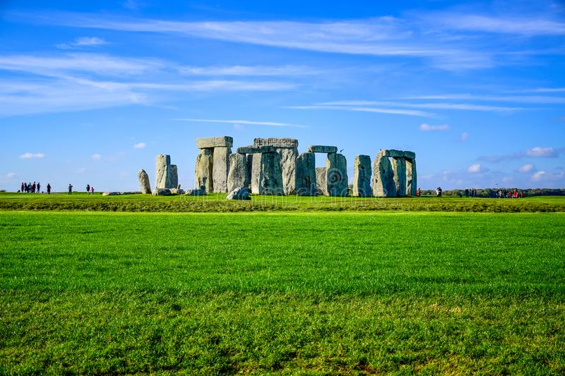 Landscape view of Stonehenge in Salisbury, Wiltshire, England, UK royalty free stock images