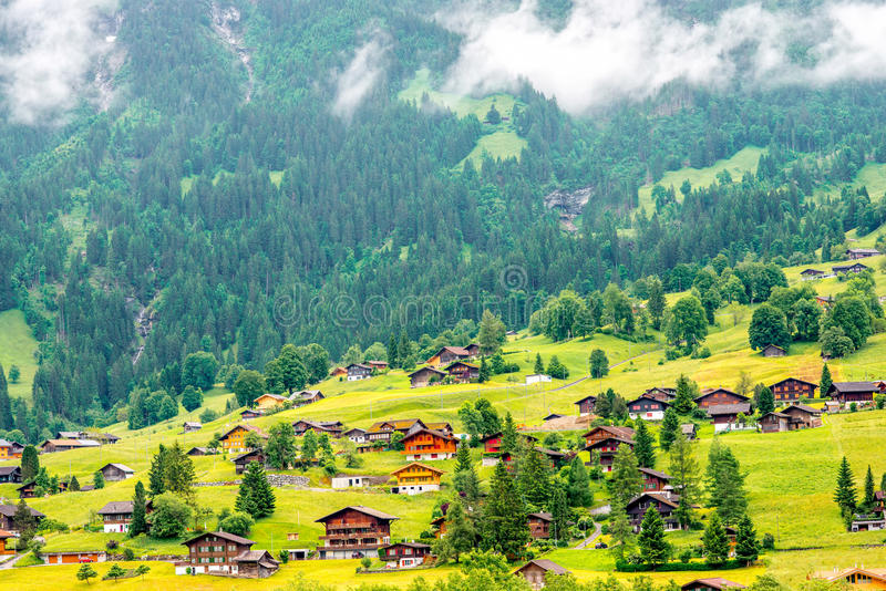 Landscape view in Switzerland royalty free stock images
