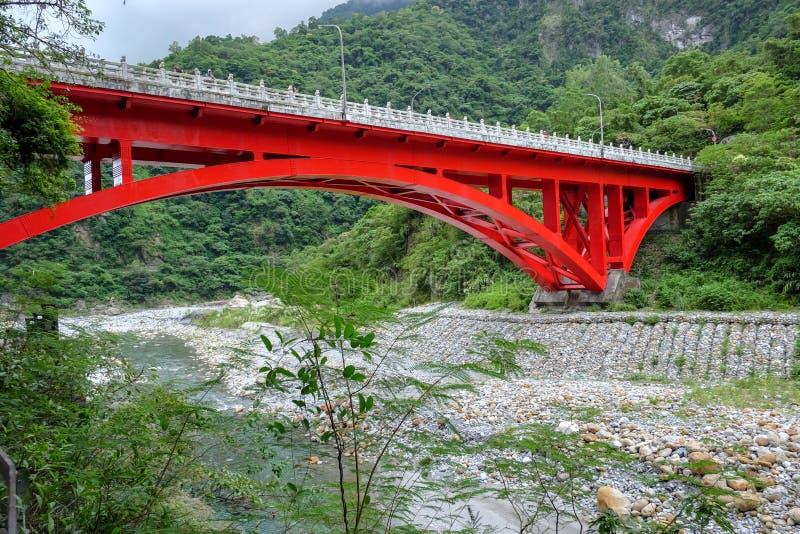 Landscape View in Taroko red bridge, Taroko national park, Hualien, Taiwan. Landscape View in Taroko red bridge, Taroko national park, Hualien, Taiwan stock images