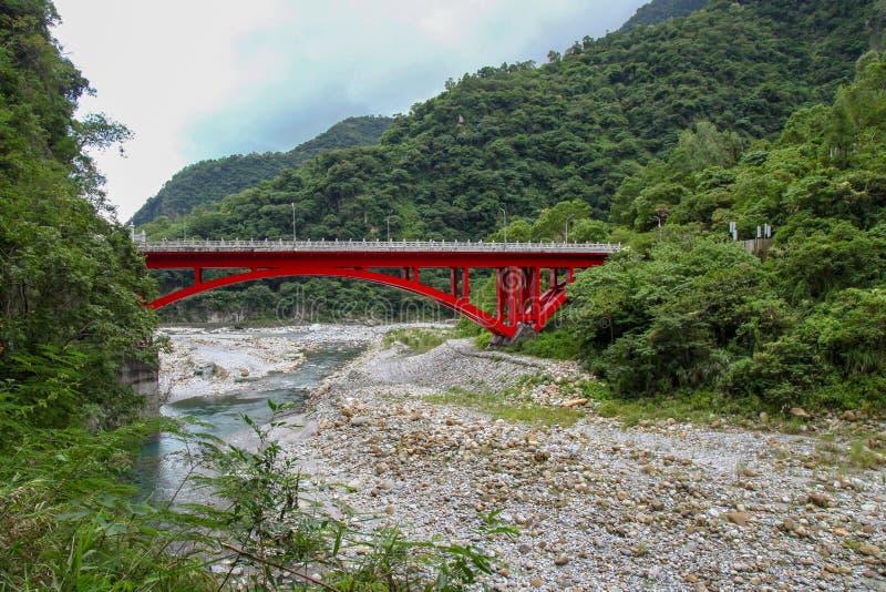 Landscape View in Taroko red bridge, Taroko national park, Hualien, Taiwan. Landscape View in Taroko red bridge, Taroko national park, Hualien, Taiwan stock photo