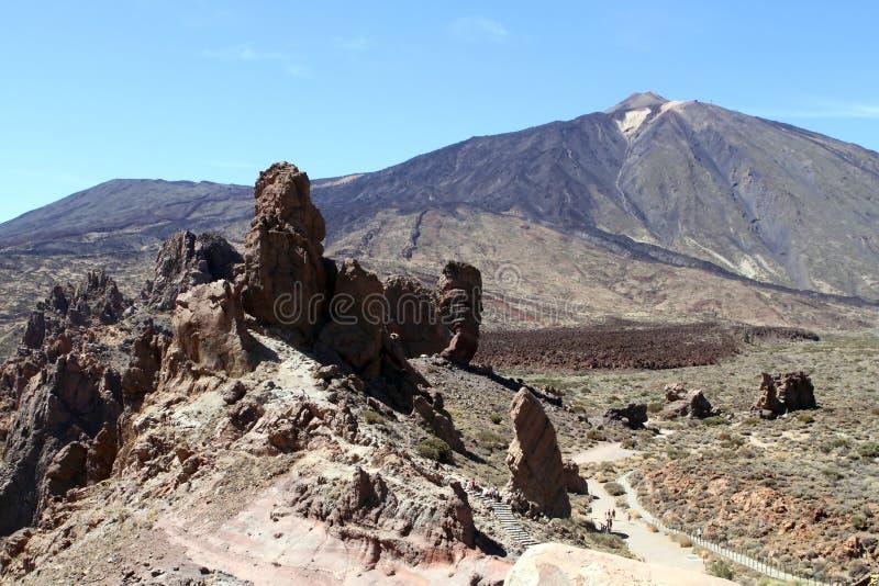 Teide mountain, Tenerife, roques de garcia stock image