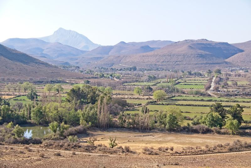 Landscape view towards Nieu-Bathesda royalty free stock photos