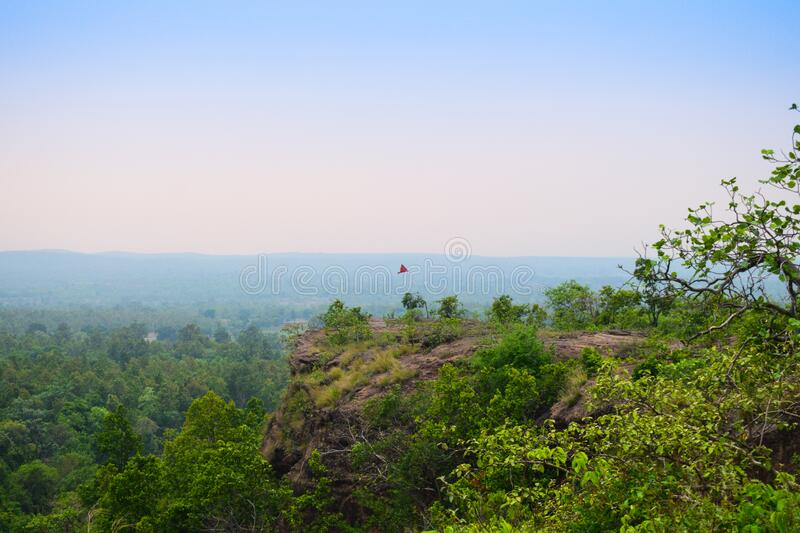 Landscape view of ulapgarh in Jharsuguda, Odisha in India. Ulapgarh is a historical place in jharsuguda, Odisha, India . Research is going on by various Indian stock photography