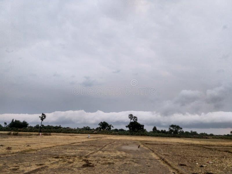 Landscape view village stock image