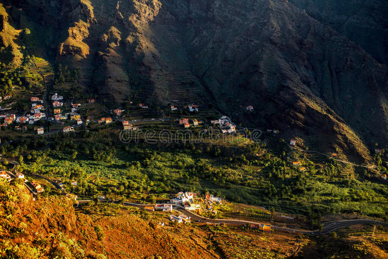 Landscape view on the western part of La Gomera island royalty free stock photography