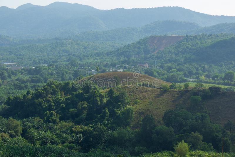 Landscape viewpoint of Grass Mountain. stock images