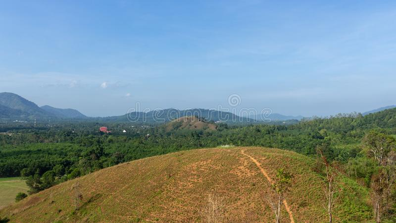 Landscape viewpoint of Grass Mountain. royalty free stock photos
