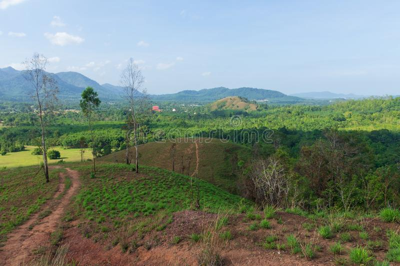 Landscape viewpoint of Grass Mountain. stock photo
